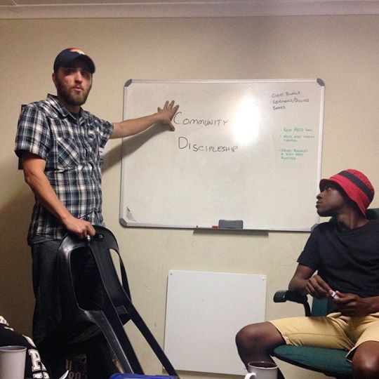 David Echols leading the Bible discussion at our young adult Thrive Community.
